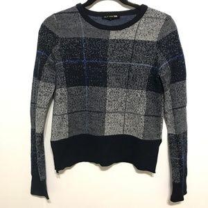 Rag & Bone Teagan Crew Neck Plaid Sweater Size S